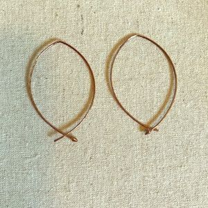 Stella & Dot hammered hoops.